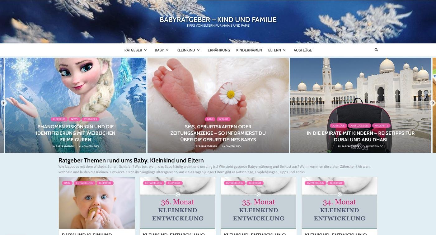 Online Babyratgeber App