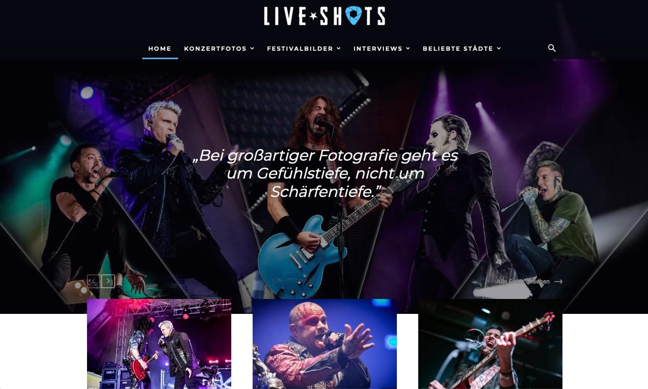 Liveshots Konzertfotos.app Community für Fotofrafen