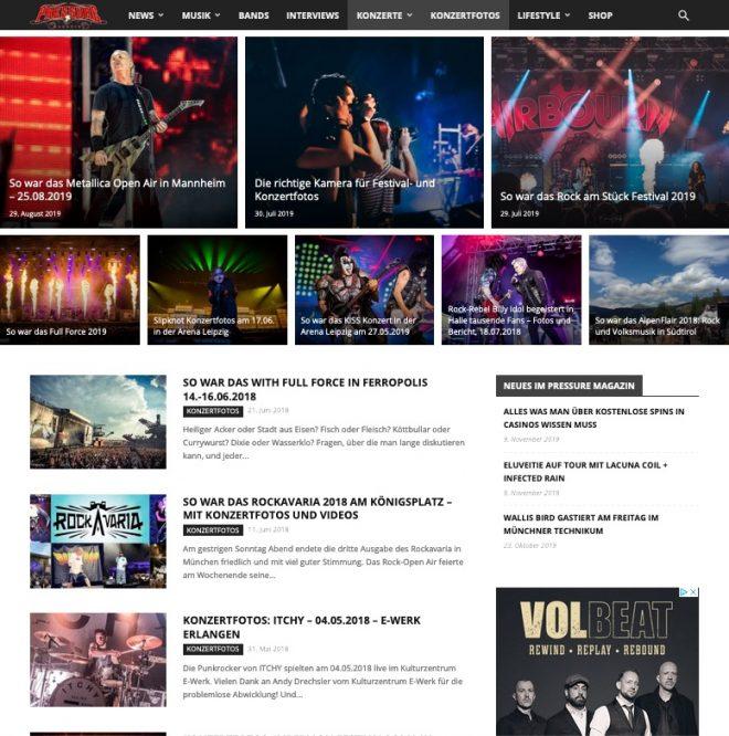 Pressure-Magazine.de Screenshot